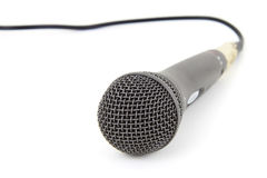 Studio microphone. Isolated on white background Stock Photos