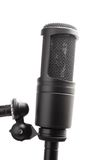 Studio microphone. On a white background Royalty Free Stock Images