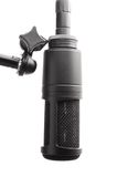 Studio microphone. On a white background Royalty Free Stock Photography