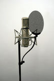 Studio Microphone. Recording studio microphone used typically for singing and voice-overs stock photo