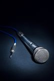 Studio microphone. Low-key of a recording studio microphone Royalty Free Stock Image