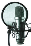 Studio microphone. With a filter Royalty Free Stock Photo
