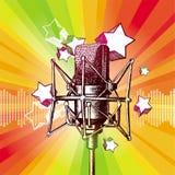 Studio microphone. Vector hand drawn microphone Stock Image