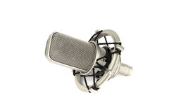 Studio microphone. Isolated on white stock images