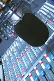 Studio Microphone And Editing Suite Royalty Free Stock Photos
