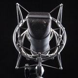 Studio microphone on black background Stock Photos