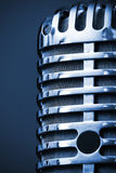 Studio microphone closeup royalty free stock photo