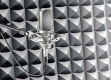Studio Microphone for recording in radio studio Stock Image