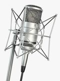 Studio Microphone Render. Neumann condenser studio microphone render royalty free illustration