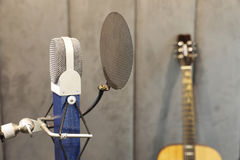 Studio microphone. In studio room for voice record Stock Images