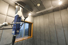 Studio microphone. In studio room for voice record Royalty Free Stock Photo