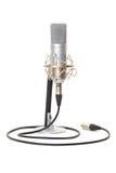 Studio microphone on stand stock image