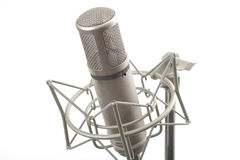 Studio microphone on stand Stock Photos