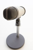 Studio microphone on white background Royalty Free Stock Photography