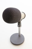 Studio microphone on white background Royalty Free Stock Photos