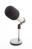 Studio microphone on white background Stock Photos