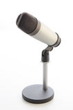 Studio microphone on white background Royalty Free Stock Photo