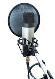Studio microphone 6. Studio microphone  on white background Stock Photos