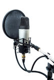 Studio microphone 8. Studio microphone  on white background Royalty Free Stock Photos