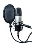 Studio microphone 5. Studio microphone  on white background Stock Photography