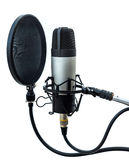 Studio microphone 4. Studio microphone  on white background Stock Photography