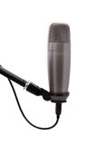 Studio microphone on white background. Studio microphone on white isolated background Royalty Free Stock Images