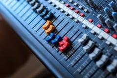 Studio-Mischer-Detail Stockfotos