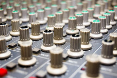 Studio Mixer. Closeup of a studio mixer Royalty Free Stock Photos