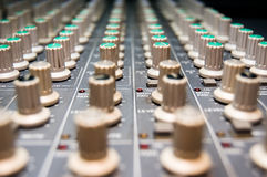 Studio Mixer. Closeup of a studio mixer Royalty Free Stock Photography