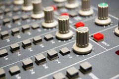 Studio Mixer. Closeup of a studio mixer Stock Image