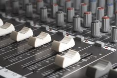 Studio mixer detail Stock Images