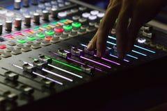 studio mixer detail Stock Photography