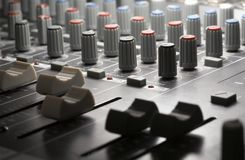 Studio mixer detail Stock Photos