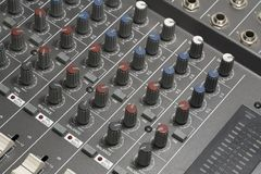 Studio mixer detail Stock Photography