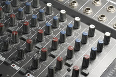 Studio mixer detail Royalty Free Stock Photo