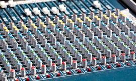 Studio mixer knobs Stock Photography