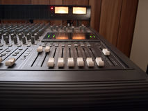 Studio mixing board royalty free illustration