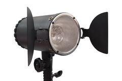 Studio monoblock flash light on tripod Stock Image