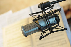 Studio Musical Microphone Royalty Free Stock Images