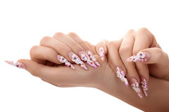 Studio nail design. Isolated. Stock Photography