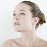 Studio natural beauty portrait  woman stock images