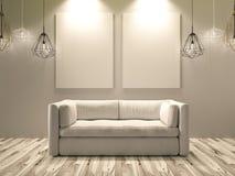 Studio with nice sofa Royalty Free Stock Photo