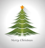 2015 10 04 STUDIO PC 545-P. Merry christmas card with tree pine cartoon, vector illustration graphic Stock Photos
