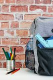 Backpack. A studio photo of a backpack Stock Images