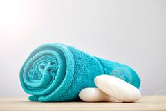 Bath Towels. A studio photo of bath towels Stock Image