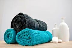 Bath Towels. A studio photo of bath towels Royalty Free Stock Images