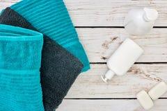Bath Towels. A studio photo of bath towels Stock Photography