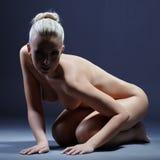 Studio photo of beautiful nude blonde posing Stock Photo