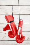 Boxing Gloves. A studio photo of boxing gloves Stock Photography