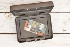 Cash Box. A studio photo of a cash box Royalty Free Stock Photo